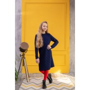 Платье вязаное Арани Темно синее тм Tophat