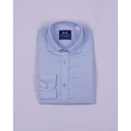 Классическая голубая школьная рубашка для подростка  Bogi