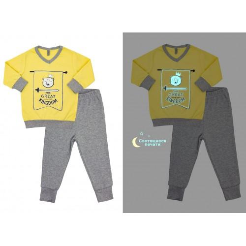 Пижама для мальчика Сказочные сны Желтая  (светится в темноте)  Смил