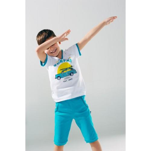 Бриджи для мальчика бирюза ТМ Смил  Мечтатели