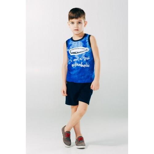 Летний комплект для мальчика синий ТМ Смил Мечтатели