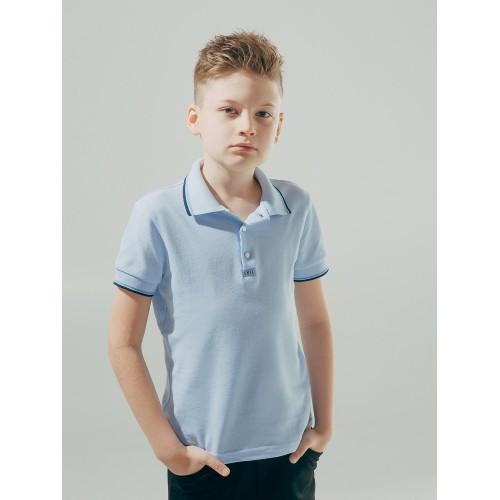 Футболка-поло ГОЛУБАЯ для мальчика  ТМ Смил