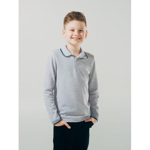 Джемпер-поло СЕРЫЙ для мальчика  ТМ Смил