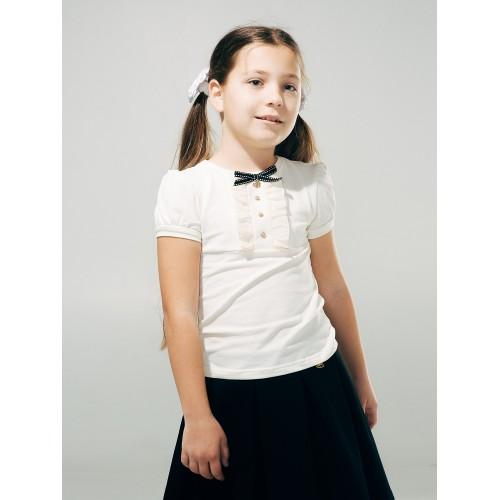 Блуза с декоративной планкой (короткий рукав)  Смил 2018