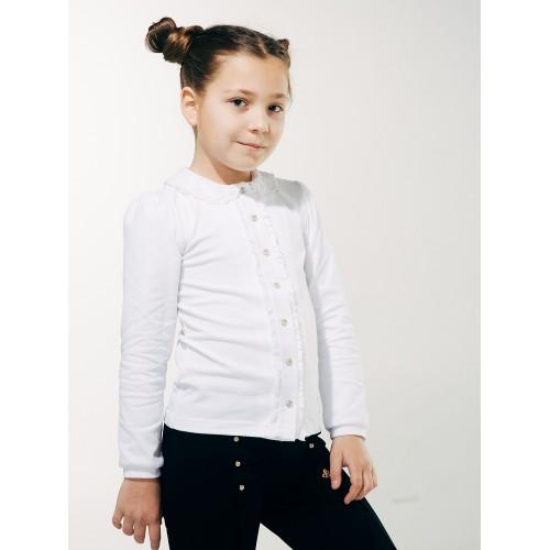Блуза с вязаным воротничком  Смил 2018