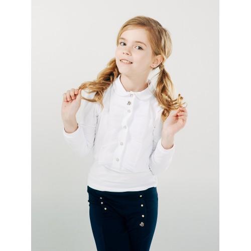 Блуза на кнопках с рюшами  Смил 2018