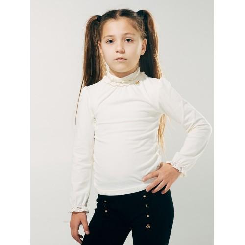 Блуза с кружевной горловиной  Смил 2018