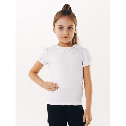 Блуза футболка с вязаным воротничком   Смил 2019
