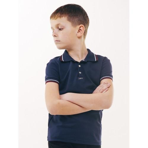 Футболка-поло ТЕМНО СИНЯЯ для мальчика 2019 ТМ Смил