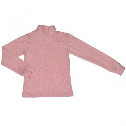 Гольф-стойка с начесом розовый меланж
