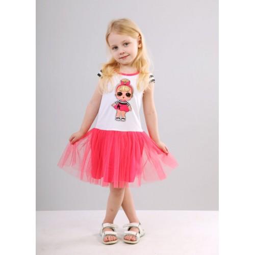 Платье летнее Лол ярко розовое 19826  ТМ Vidoli