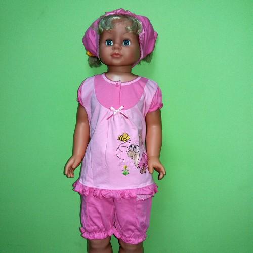Комплект для девочки 696  Фламинго-текстиль