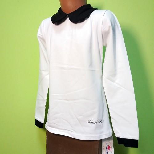 Блуза  Школьная  с воротником арт. 795,852 Фламинго-текстиль