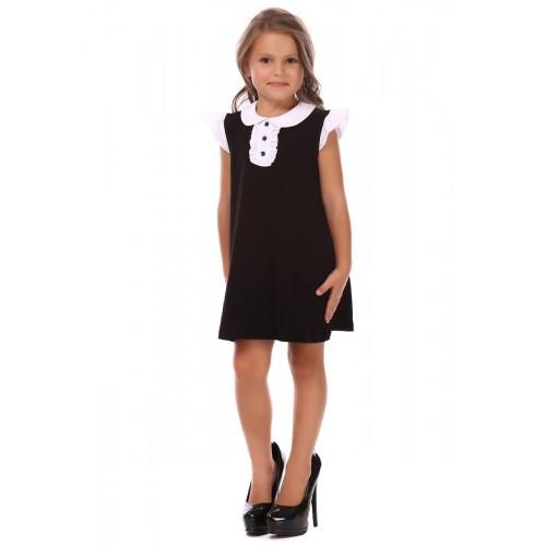 Платье черное школьное для девочки 14058