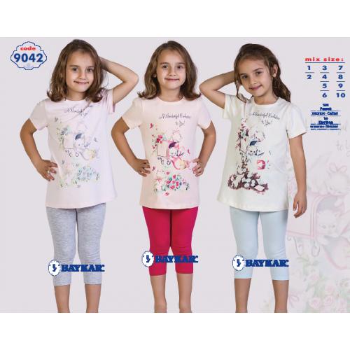 Пижама для девочки летняя  мод.9042 Baykar
