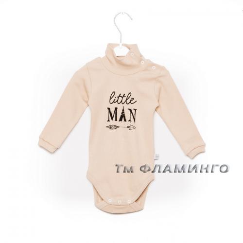 Боди-гольф Little man (рубчик) 580  Фламинго-текстиль