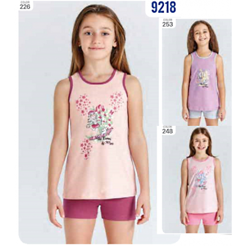 Пижама  для девочки летняя  мод.9218 Baykar