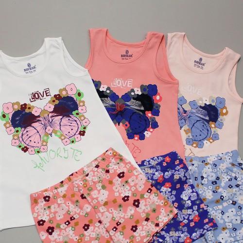 Пижама  для девочки летняя  мод.9357 Baykar