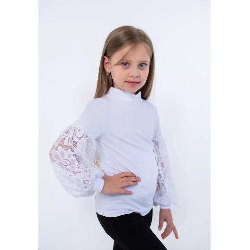 Блуза для девочки белая/молочная  ВидОли ТМ