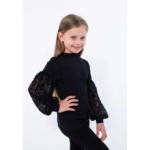 Блуза для девочки черная  ВидОли ТМ