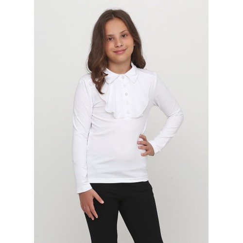 Блуза для девочки  16532 белая ТМ ВидОли