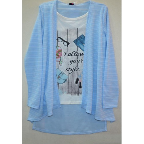Блуза-обманка для девочки подростка 2099 Mevis