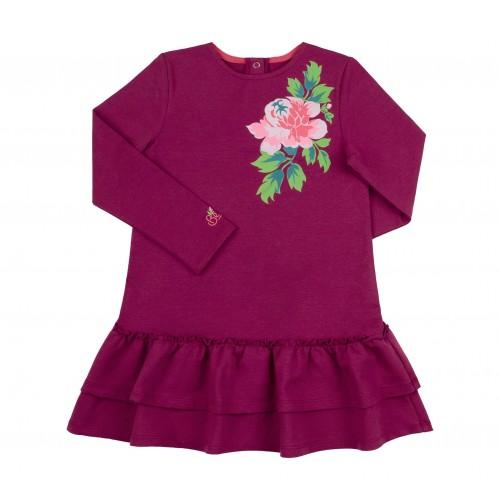 Платье трикотажное (двунитка) ПЛ266 Бемби
