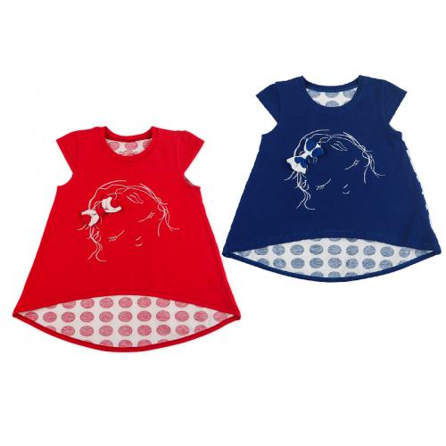Футболка для девочки мод.934 Фламинго-текстиль