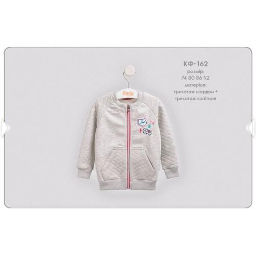 Кофта для девочки (с начесом) кф162 Бемби-осень