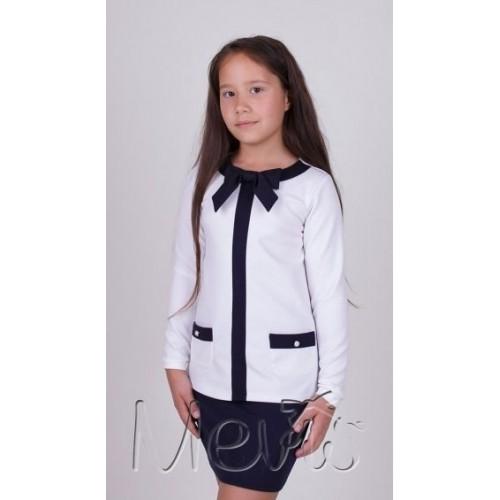 Блуза школьная нарядная  1610 Mevis