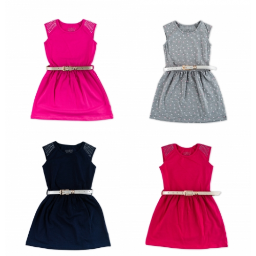 Платье летнее мод.770 Фламинго-текстиль
