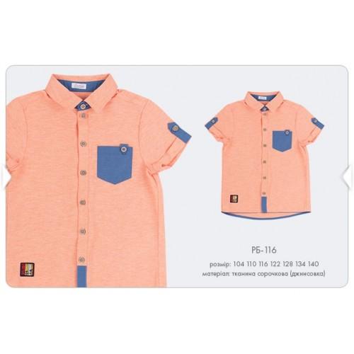 Рубашка для мальчика РБ116 оранжевая Бемби