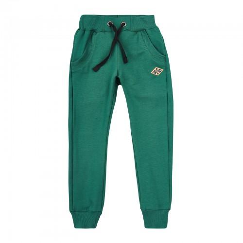 Брюки спортивные для мальчика ШР523 зеленые (двунитка) Бемби