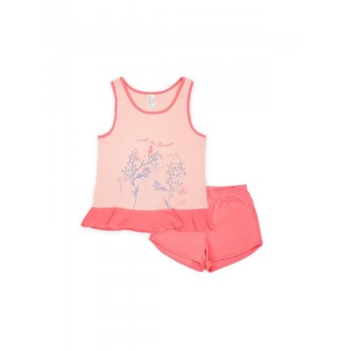 Пижама для девочки летняя 104394 розовая тм Смил