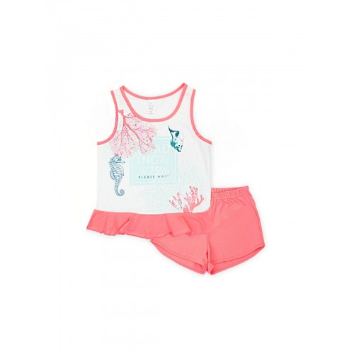Пижама для девочки летняя 104479.104655 молочная тм Смил