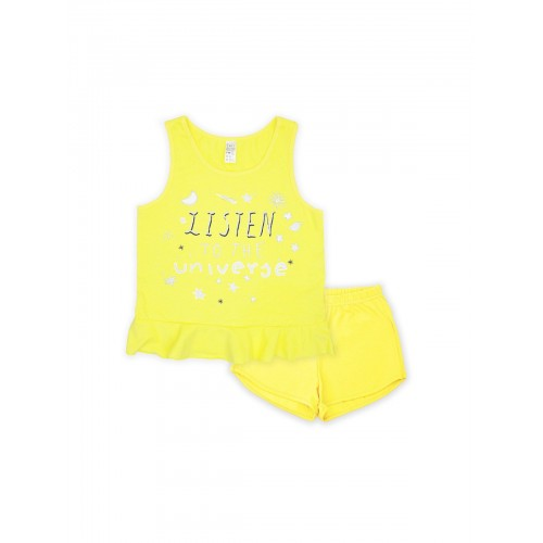 Пижама для девочки летняя 104479.104655 желтая тм Смил