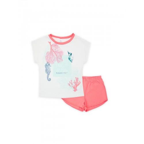 Пижама для девочки летняя 104478.104654  корал тм Смил