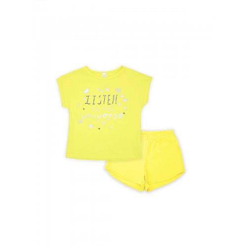 Пижама для девочки летняя 104478.104654  желтая тм Смил