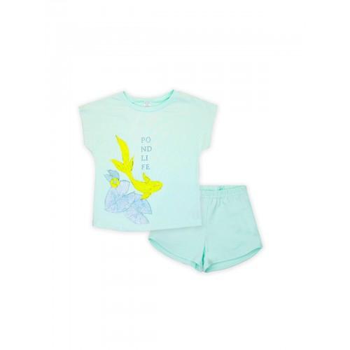 Пижама для девочки летняя 104478.104654 бирюза тм Смил