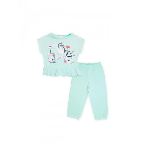 Пижама для девочки летняя 104395 бирюза тм Смил