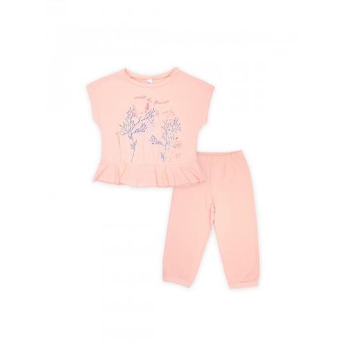 Пижама для девочки летняя 104395 корал тм Смил