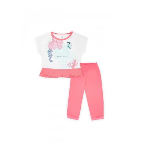 Пижама для девочки летняя 104476.104652  корал тм Смил