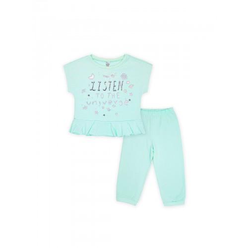 Пижама для девочки летняя 104476.104652 бирюза тм Смил