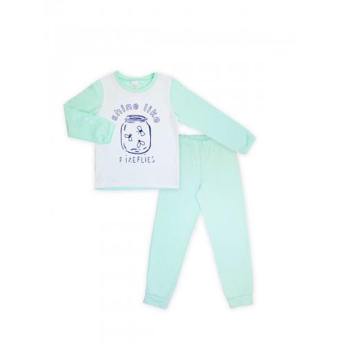 Пижама для девочки (кулир)  104396 бирюза  ТМ Смил