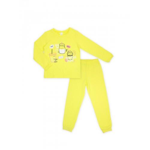Пижама для девочки (кулир)  104396 желтая  ТМ Смил