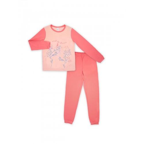 Пижама для девочки (кулир)  104396 розовая  ТМ Смил