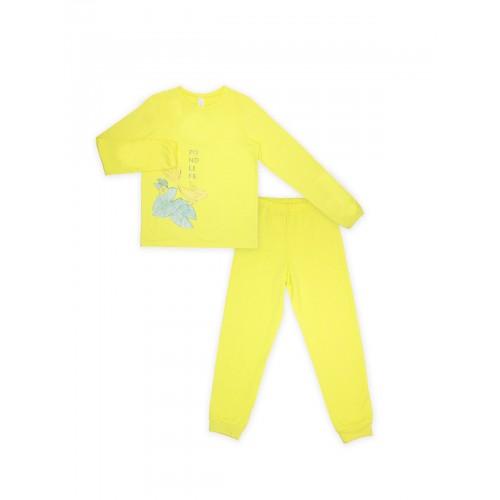 Пижама для девочки (кулир)  104477.104653 желтая  ТМ Смил