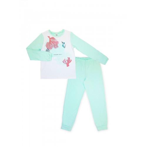 Пижама для девочки (кулир)  104477.104653 бирюза  ТМ Смил