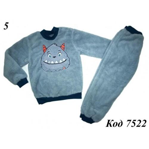 Пижама теплая  Монстрик (вельсофт ) ТМ Ляля