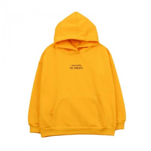 Кофта худи желтая ТМ Фламинго-текстиль